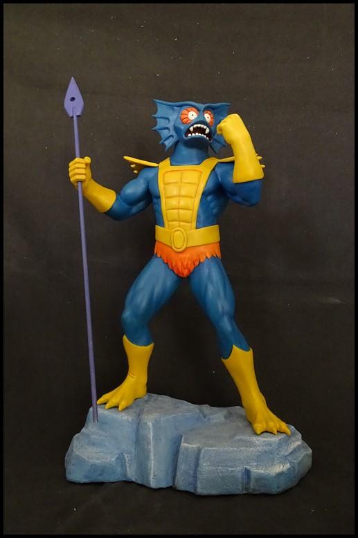 Mer-man (filmation) 1/4 statue Mer-ma14
