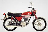 Evolution des : MONOCYLINDRES  HONDA 125  TRIAL Cb_12510