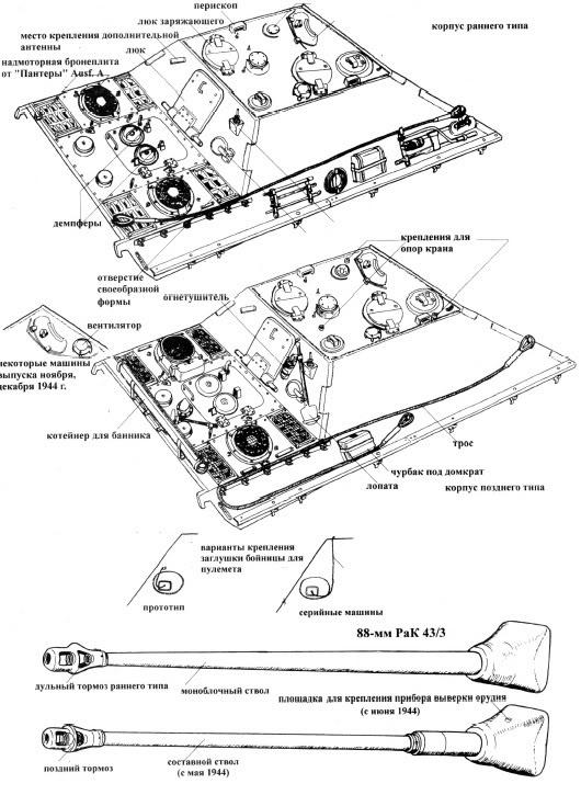 Taille des mailles sur ventilations des Panzers Jagd-210