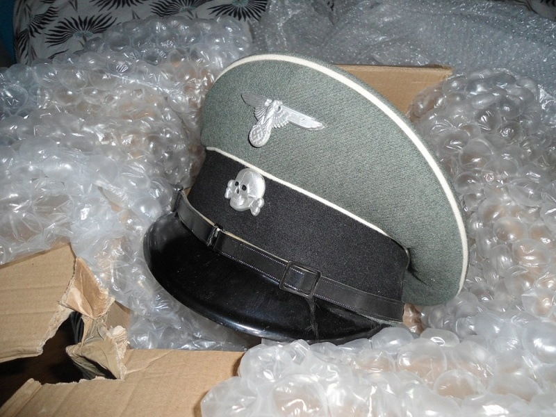 Schirmmutze sous off Waffen SS  Ssnco310