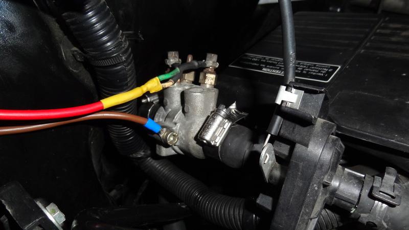 Modification ajout d'un réchauffeur liquide de refroidissement chauffage vsp Dsc07114