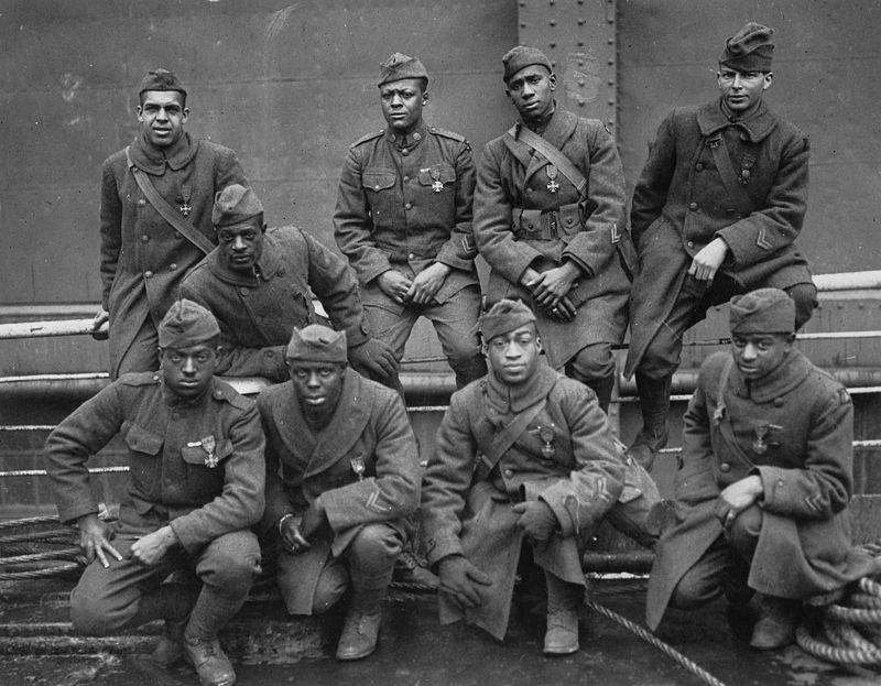 Les noirs dans l'armée américaine en 1917, replay France Ô. 800px-10