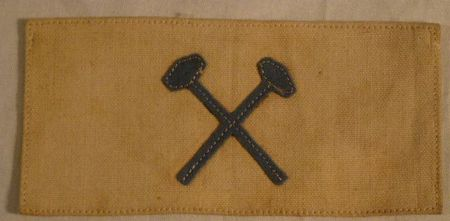 Patch US WWI rectangulaire. 1899 & 1902 Infantry/Artillery Mechanic Insignia B31_110