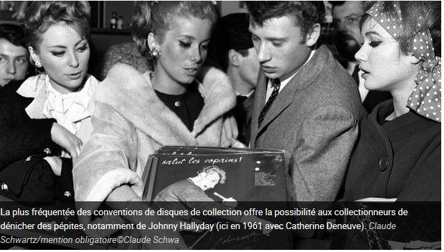 Johnny Hallyday : des vinyles inédits en vente à la convention du disque Captu111