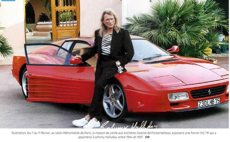 Fontainebleau : une Ferrari de Johnny Hallyday exposée à Rétromobile Captu112