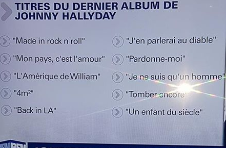Que contient le dernier album de Johnny Hallyday? Captur32