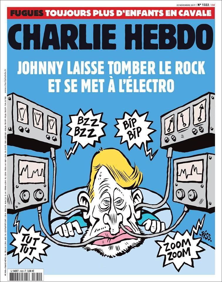 Charlie Hebdo se moque (une nouvelle fois) de Johnny  Dpqqoj10