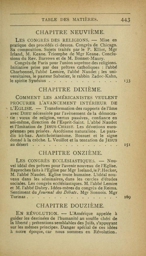 L'UNION DES ÉGLISES  ET  L'UNITÉ DE L'ÉGLISE - Mgr Paquet - 1919. Lamric15