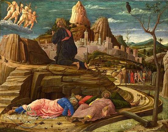 Jesucristo ora en el  getsemani Gethse13