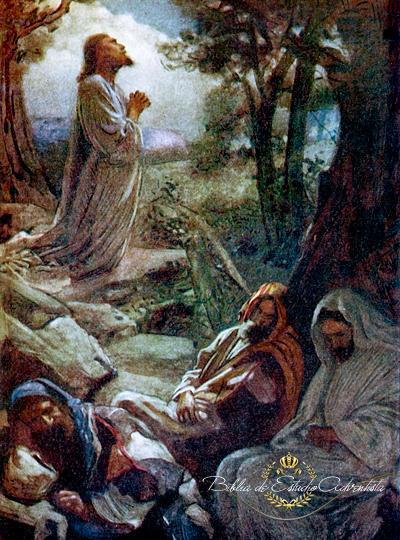 Jesucristo ora en el  getsemani Jesucr12