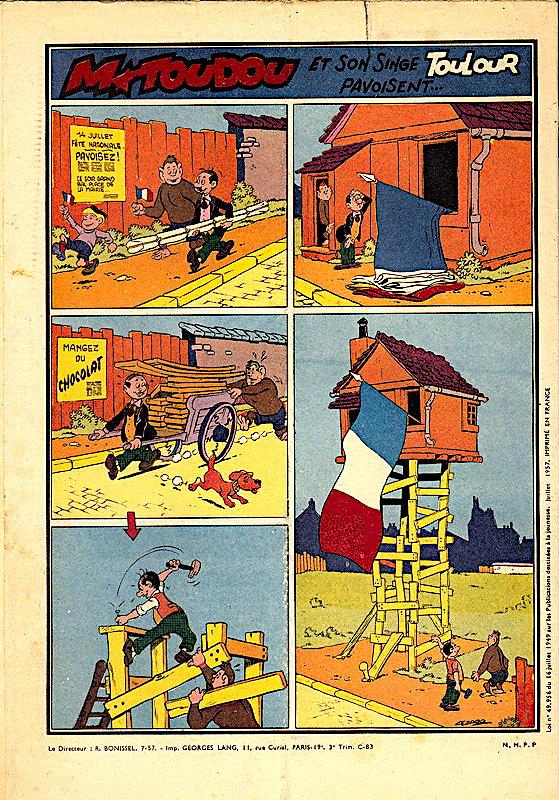 Jean Cézard : M. TOUDOU (et son singe Toulour ) et bien d'autres personnages -toudo10