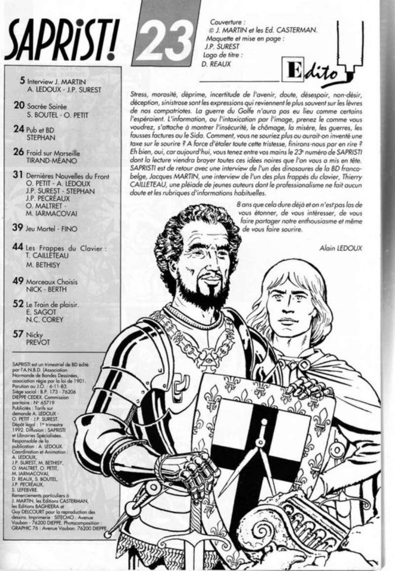 Interview, fanzines et articles divers sur Jacques Martin - Page 2 0111