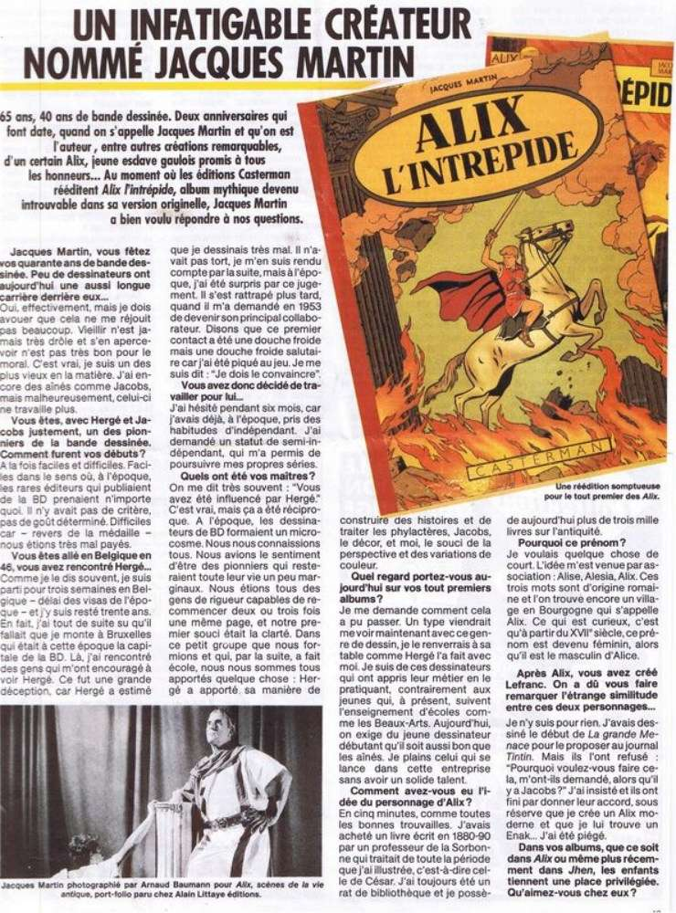 Interview, fanzines et articles divers sur Jacques Martin - Page 2 0112