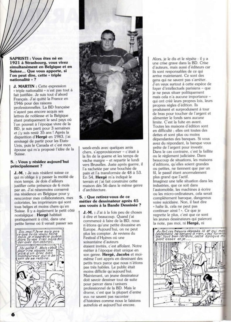 Interview, fanzines et articles divers sur Jacques Martin - Page 2 0311