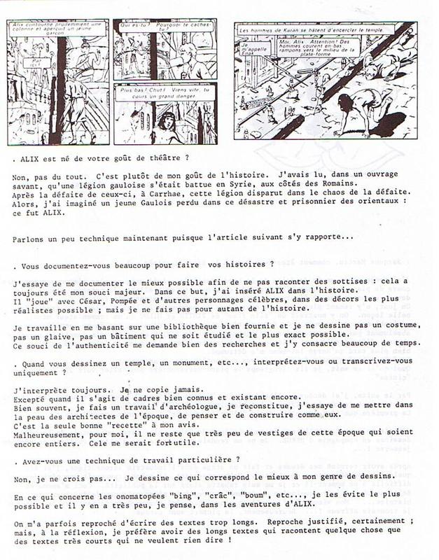 Interview, fanzines et articles divers sur Jacques Martin - Page 2 0312