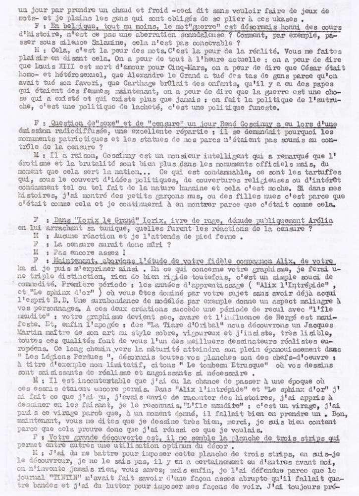 Interview, fanzines et articles divers sur Jacques Martin - Page 2 0315