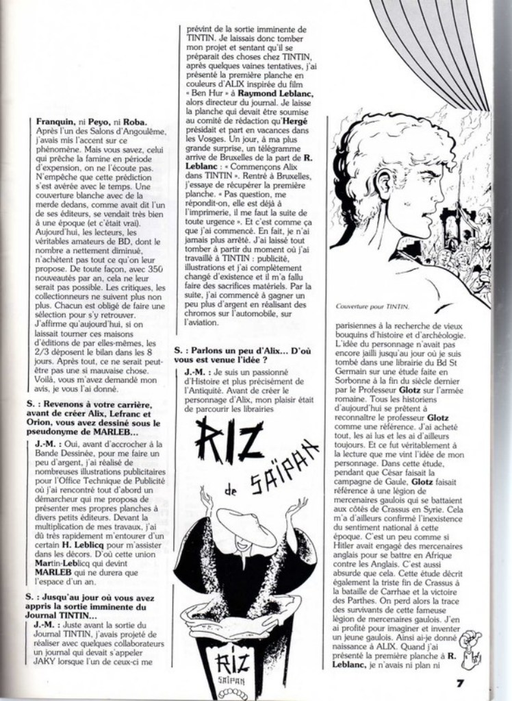 Interview, fanzines et articles divers sur Jacques Martin - Page 2 0411