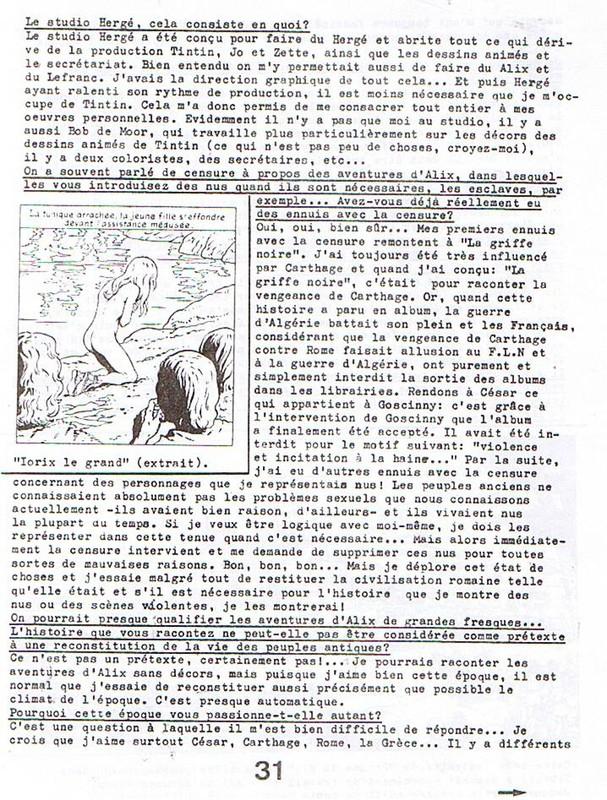 Interview, fanzines et articles divers sur Jacques Martin - Page 2 0510