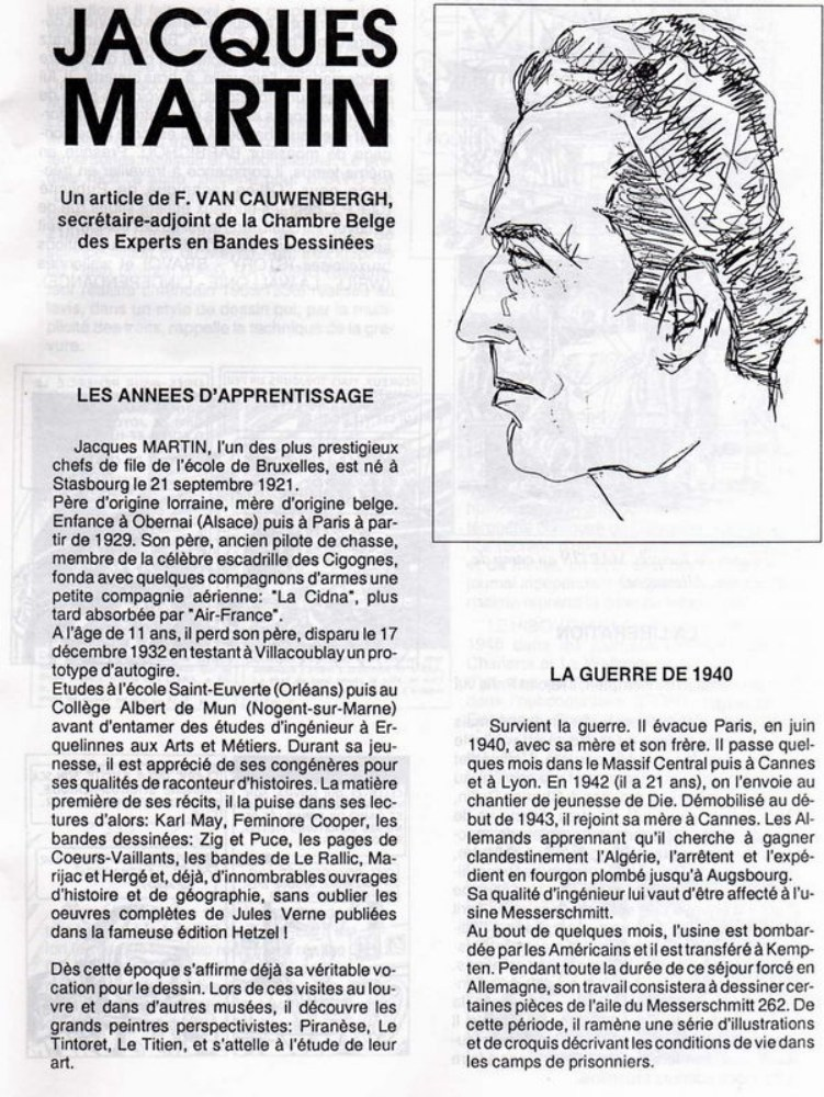 Interview, fanzines et articles divers sur Jacques Martin - Page 2 0613