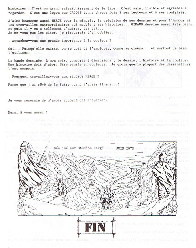 Interview, fanzines et articles divers sur Jacques Martin - Page 2 0711