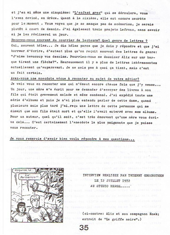 Interview, fanzines et articles divers sur Jacques Martin - Page 2 0910