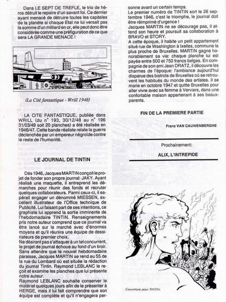 Interview, fanzines et articles divers sur Jacques Martin - Page 2 0912
