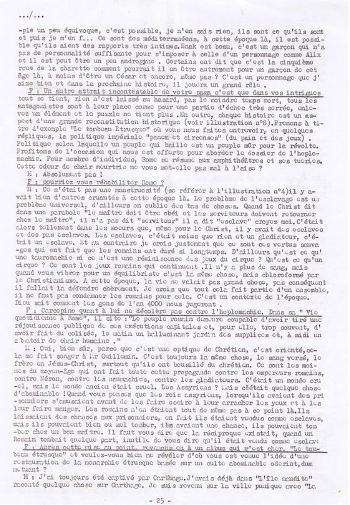 Interview, fanzines et articles divers sur Jacques Martin - Page 2 1012