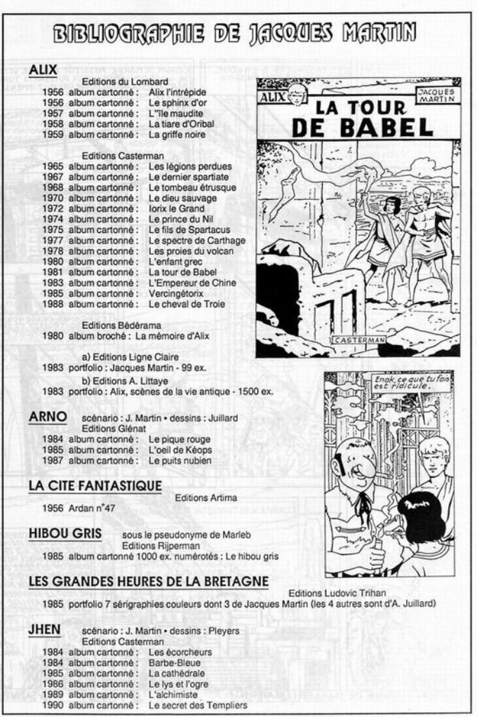 Interview, fanzines et articles divers sur Jacques Martin - Page 2 1111