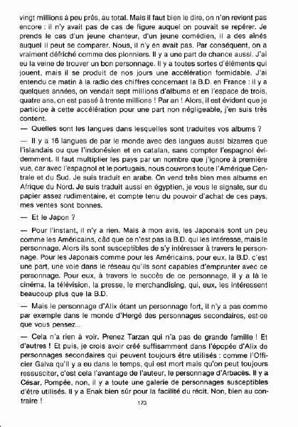 Interview, fanzines et articles divers sur Jacques Martin Bdsup310