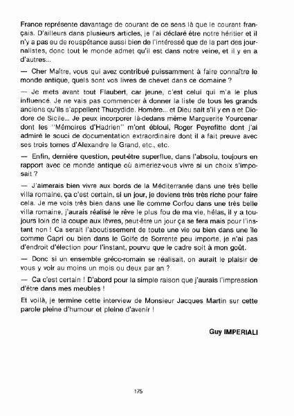 Interview, fanzines et articles divers sur Jacques Martin Bdsup510