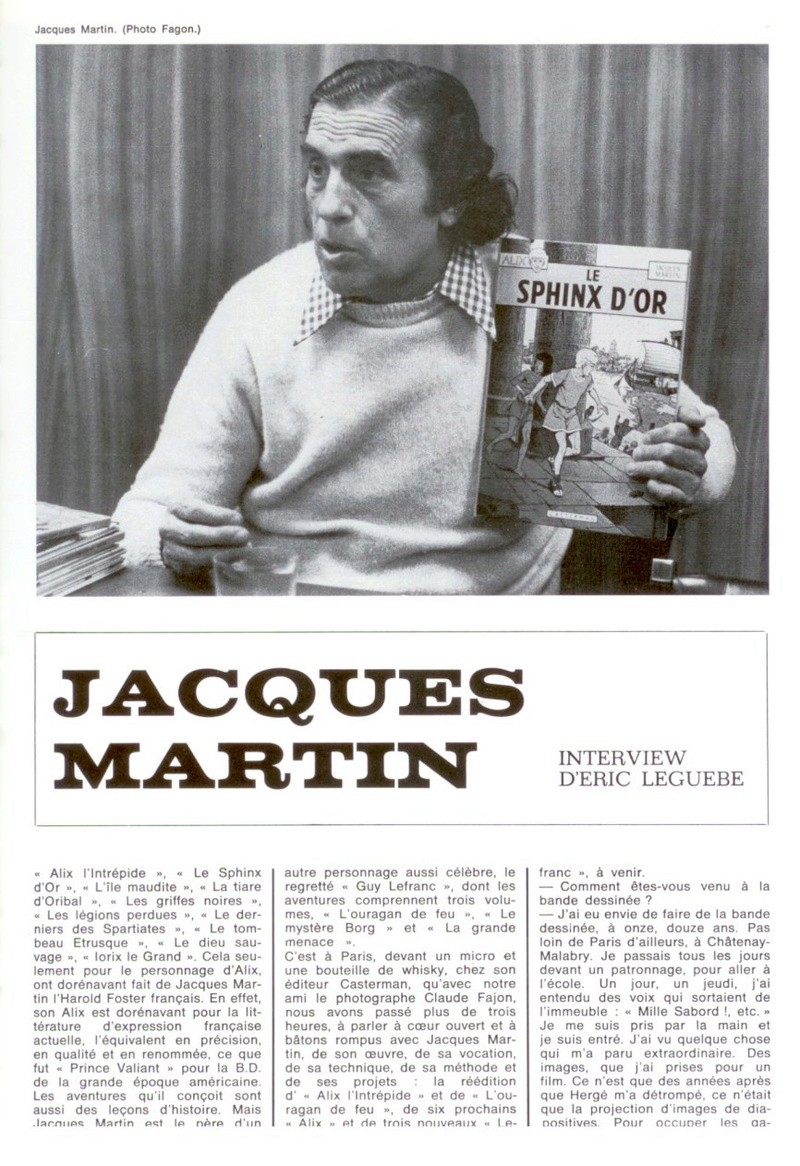 Interview, fanzines et articles divers sur Jacques Martin - Page 2 Inter_11