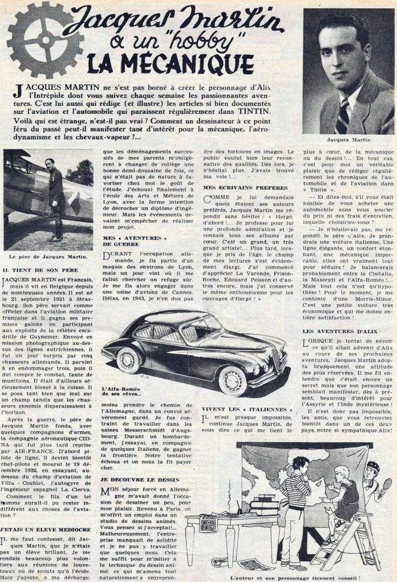 Interview, fanzines et articles divers sur Jacques Martin Jm1010
