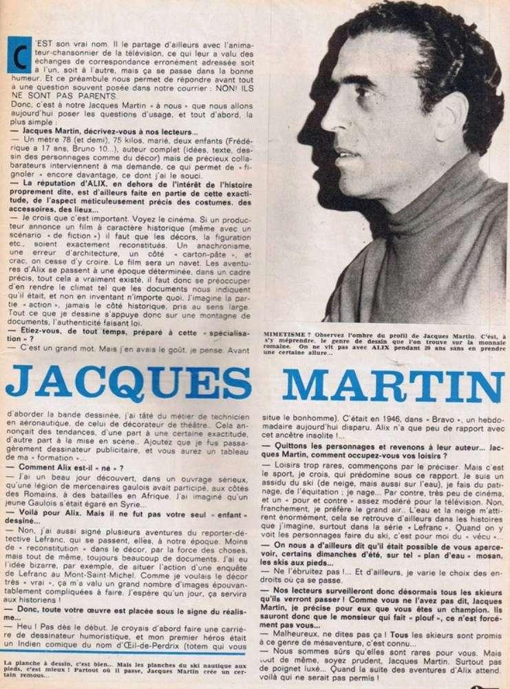 Interview, fanzines et articles divers sur Jacques Martin - Page 2 Tintin10