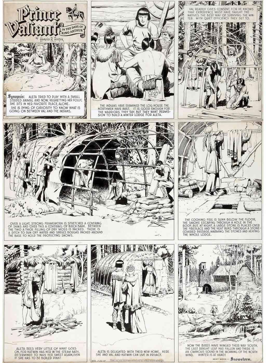 Prince Vaillant par Hal Foster - Page 16 Foster11