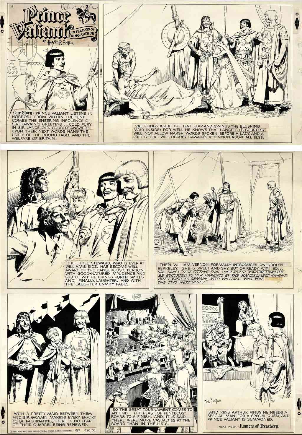 Prince Vaillant par Hal Foster - Page 16 Foster15