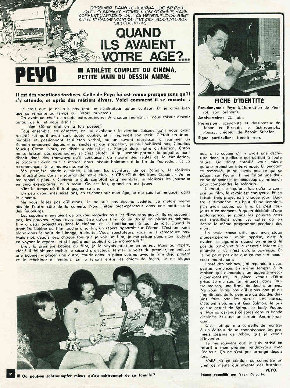 Peyo avec et sans Schtroumpfs - Page 12 Peyosp10