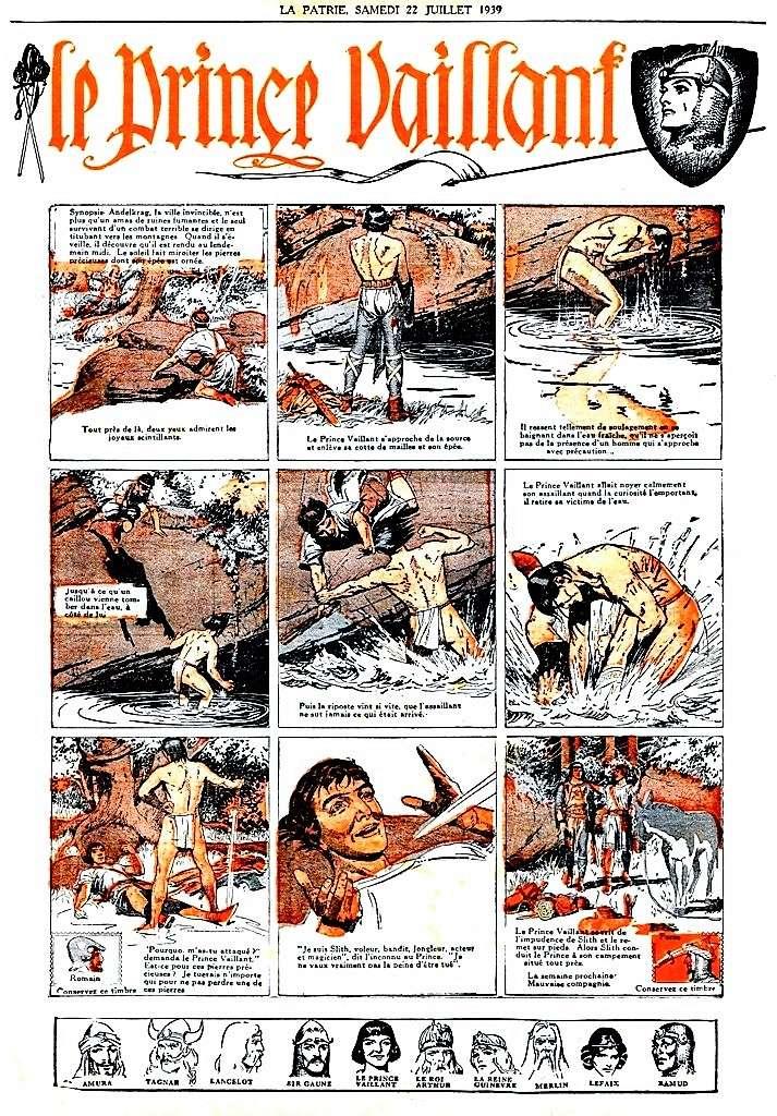 Prince Vaillant par Hal Foster - Page 16 Vailla12