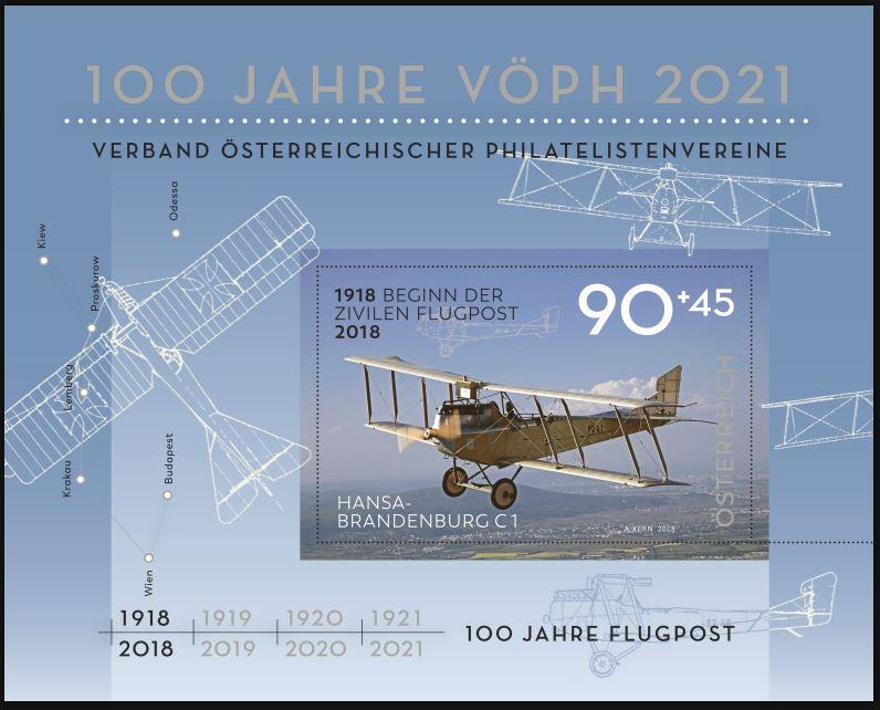 Sondermarke (Block) 100. Jahre Flugpost 100_ja10