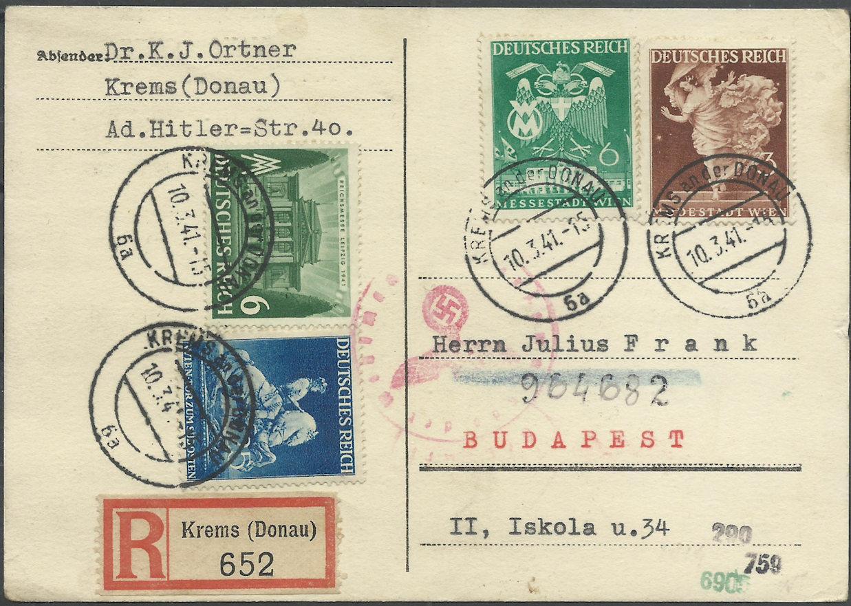 Österreich im III. Reich (Ostmark) Belege - Seite 13 19410310
