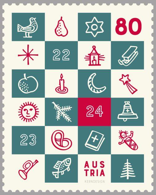 """Weihnachten - Sondermarke """"Weihnachten 2017 – Adventkalender"""" 5_symb10"""