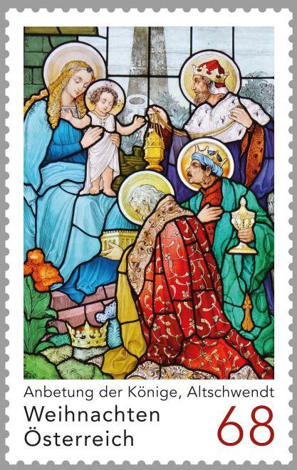 """Sondermarke """"Weihnachten 2017 - Anbetung der Könige, Pfarrkirche Altschwendt"""" 6_kyni10"""