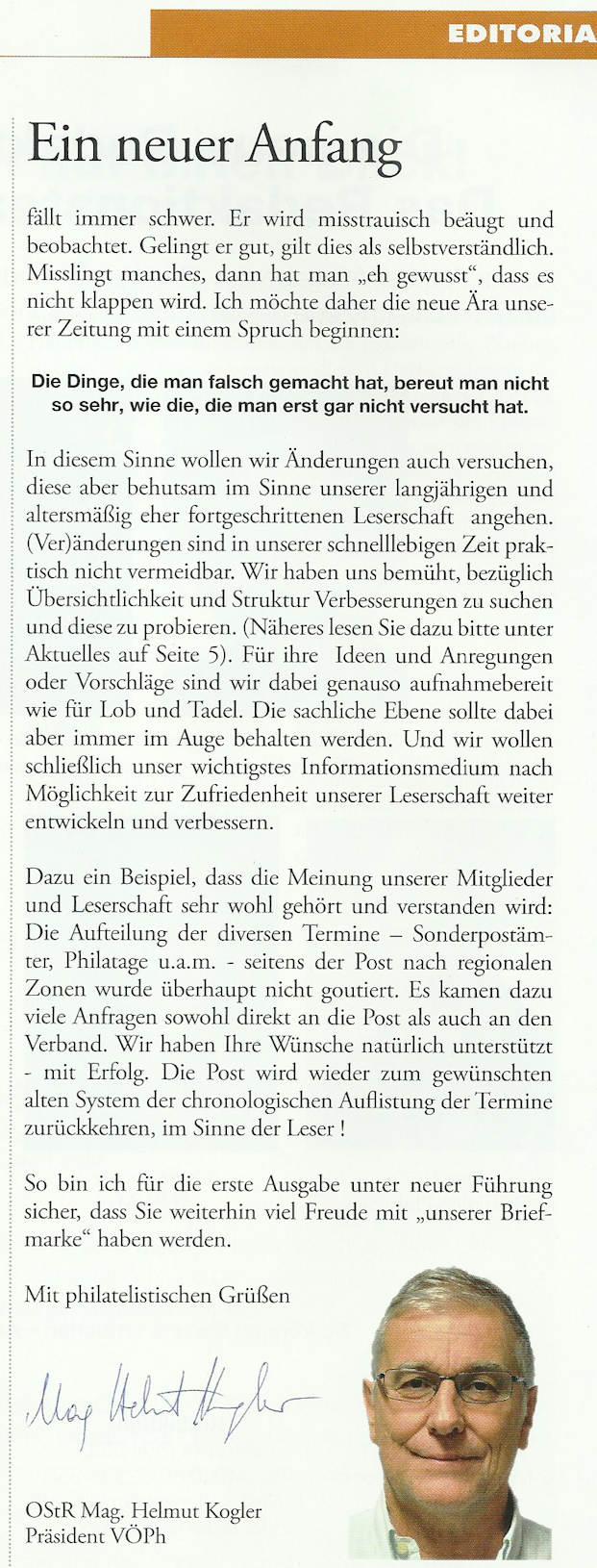 """""""Die Briefmarke"""" ab Februar 2018 vom Schwaneberger Verlag gestaltet. Kogler10"""