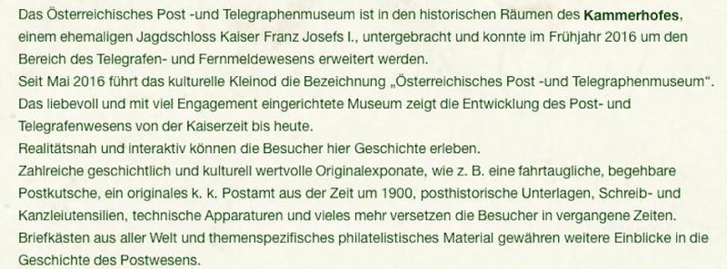 Österreichisches Post- und Telegraphenmuseum Eisenerz Museum10