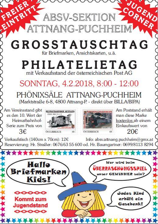 Großtauschtag 4. Februar 2018 Attnang-Puchheim Plalat10