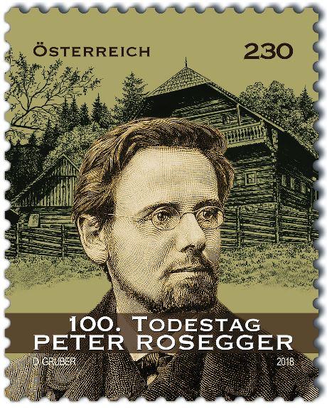 Sondermarke 100. Todestag Peter Rosegger Rosseg10
