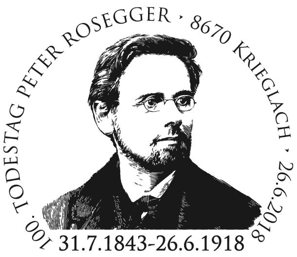 Sondermarke 100. Todestag Peter Rosegger Rosseg11