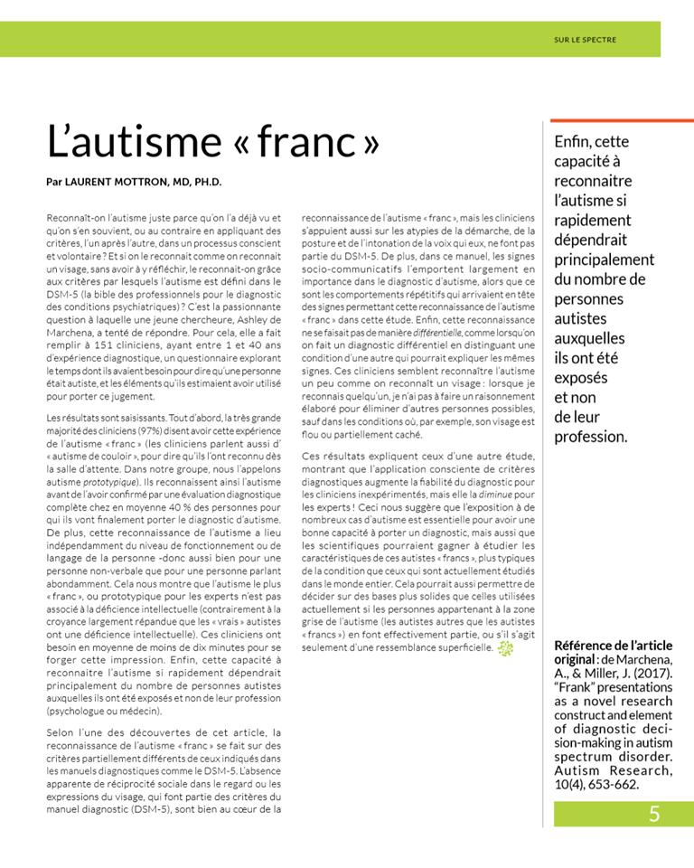 """nouveau magasine en neurosciences """"sur le spectre""""  34394510"""