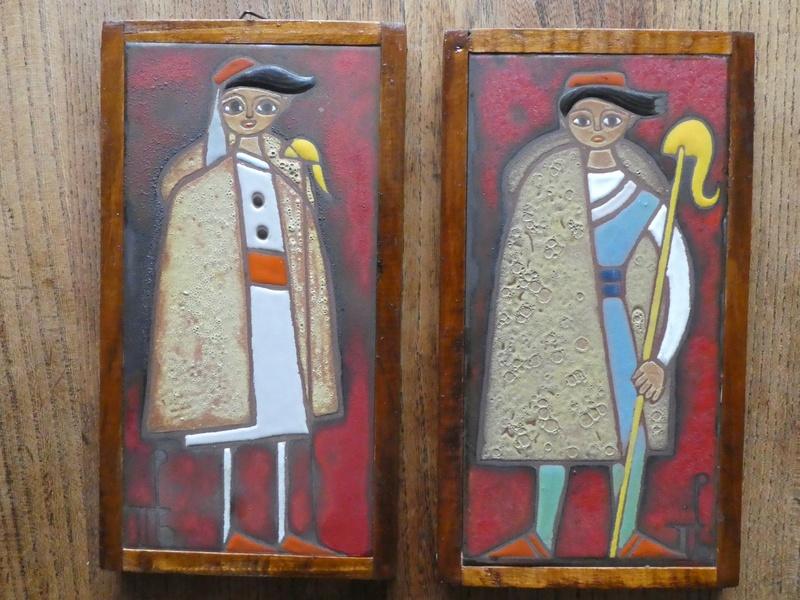 2 Italian Tiles with Monogram P1030125
