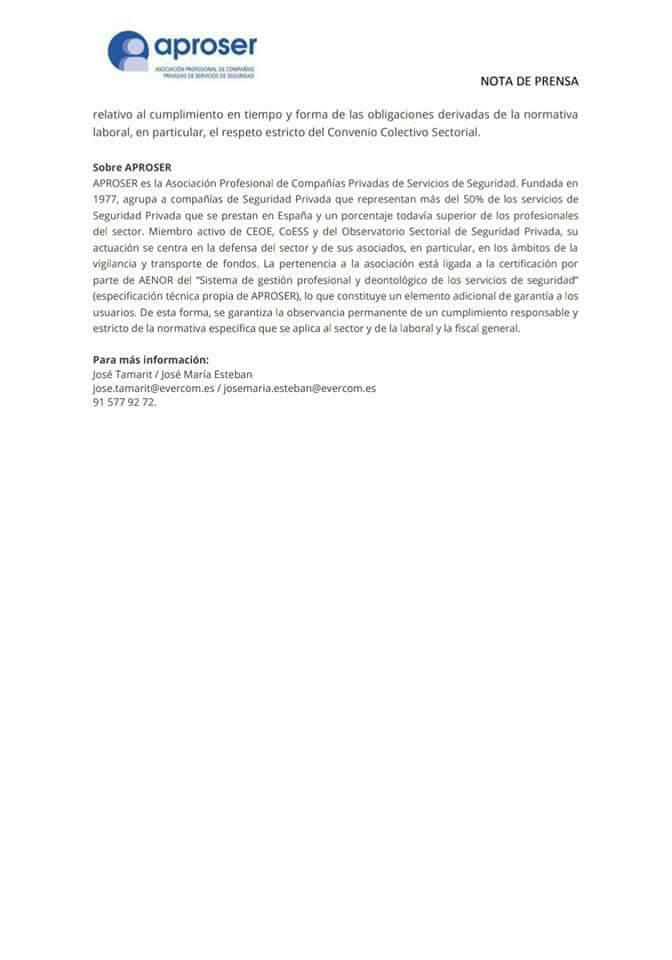 Guía de Buenas Prácticas en la contratación de servicios de Seguridad Privada Aprose12
