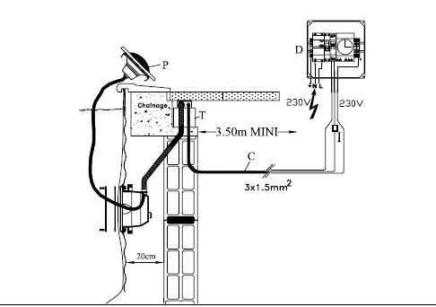 devis electricien pou réparation projecteur piscine Spot__10